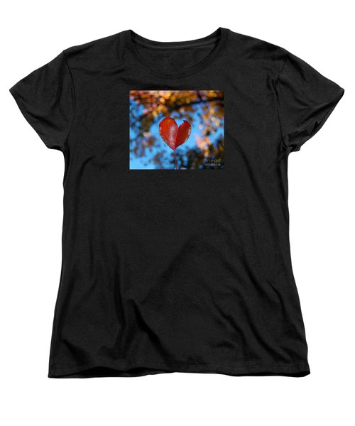 Women's T-Shirt (Standard Cut) featuring the photograph Fall's Heart by Debra Thompson