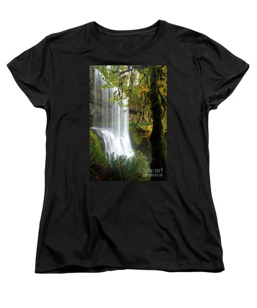 Falls Though The Trees Women's T-Shirt (Standard Cut) by Adam Jewell