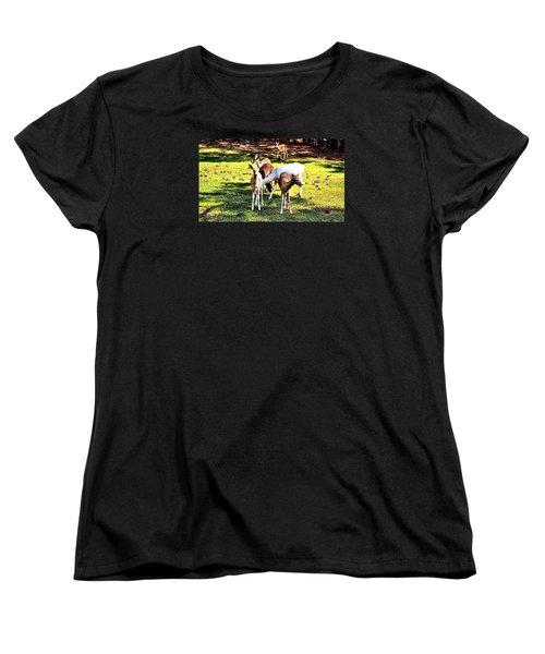 Family Of Deer Women's T-Shirt (Standard Cut) by James Potts