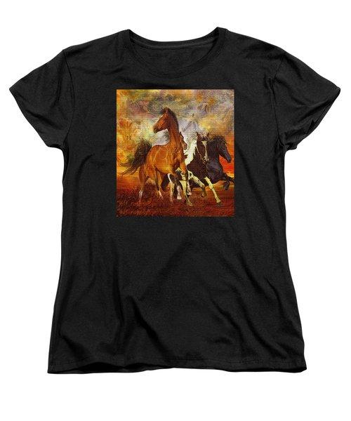 Fantasy Horse Visions Women's T-Shirt (Standard Cut) by Steve Roberts