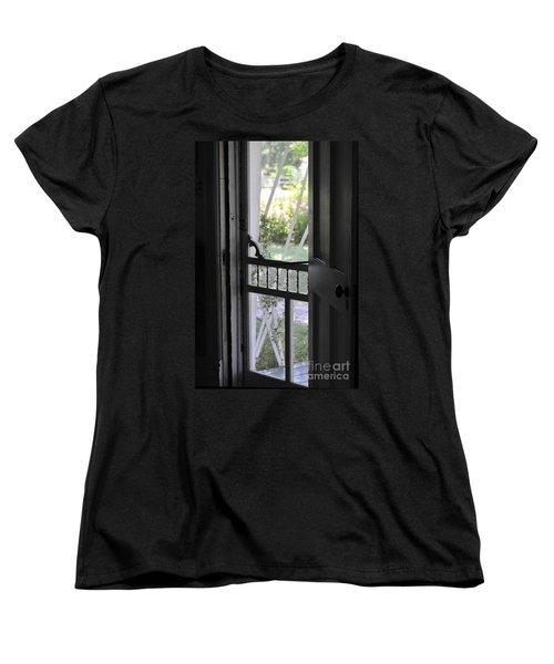 Farm House Screen Door Women's T-Shirt (Standard Cut) by Wilma  Birdwell