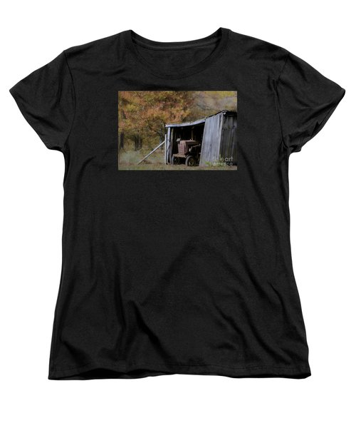 Women's T-Shirt (Standard Cut) featuring the photograph Farmall Tucked Away by Benanne Stiens