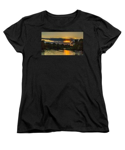 Father's Day Sunset Women's T-Shirt (Standard Cut) by Robert Bales