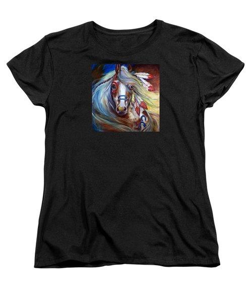 Fearless Indian War Horse Women's T-Shirt (Standard Cut) by Marcia Baldwin