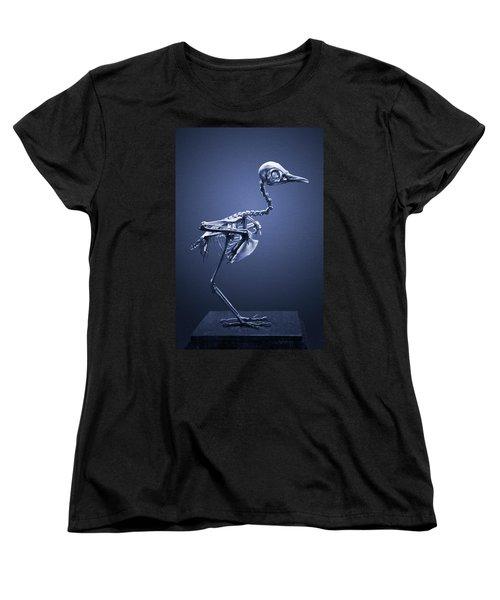 Women's T-Shirt (Standard Cut) featuring the photograph Featherless In Blue by Joseph Westrupp