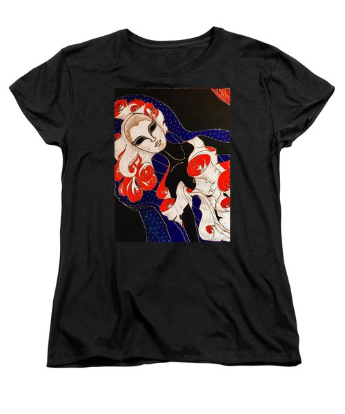 Women's T-Shirt (Standard Cut) featuring the painting Feminine Mystique by Rae Chichilnitsky