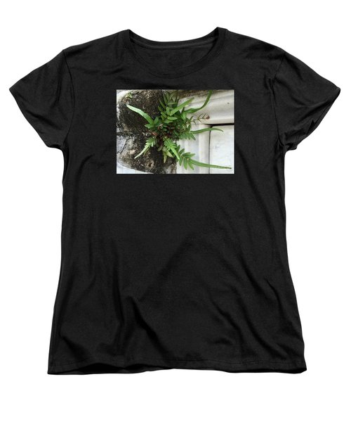 Women's T-Shirt (Standard Cut) featuring the painting Fern by Kim Nelson