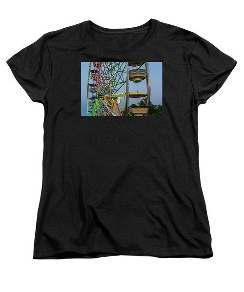 Ferris Wheel Lights At Dusk Closeup Women's T-Shirt (Standard Fit)