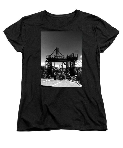 Ferry Workers Women's T-Shirt (Standard Cut) by WaLdEmAr BoRrErO