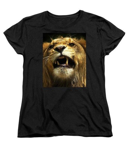 Fierce Women's T-Shirt (Standard Cut) by Wade Aiken