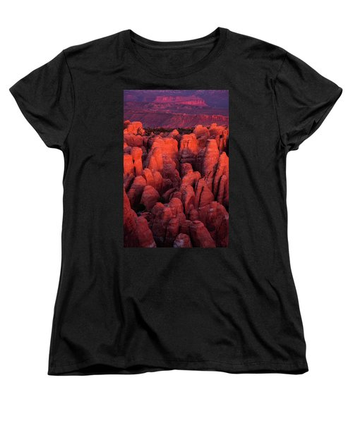 Women's T-Shirt (Standard Cut) featuring the photograph Fiery Furnace by Dustin LeFevre