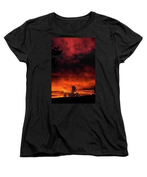 Fiery Sky Women's T-Shirt (Standard Cut) by Jason Coward