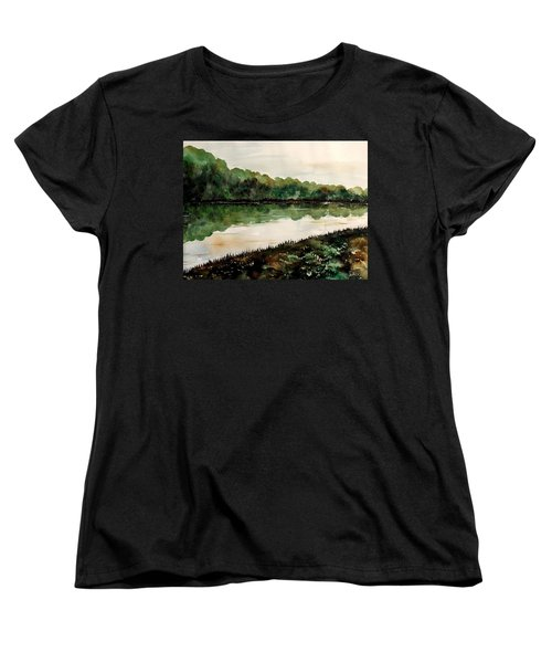 Finding The Place To Cross Women's T-Shirt (Standard Cut) by Lisa Aerts