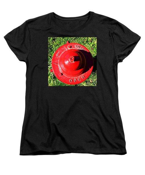 Fire Hydrant #8 Women's T-Shirt (Standard Cut) by Suzanne Lorenz