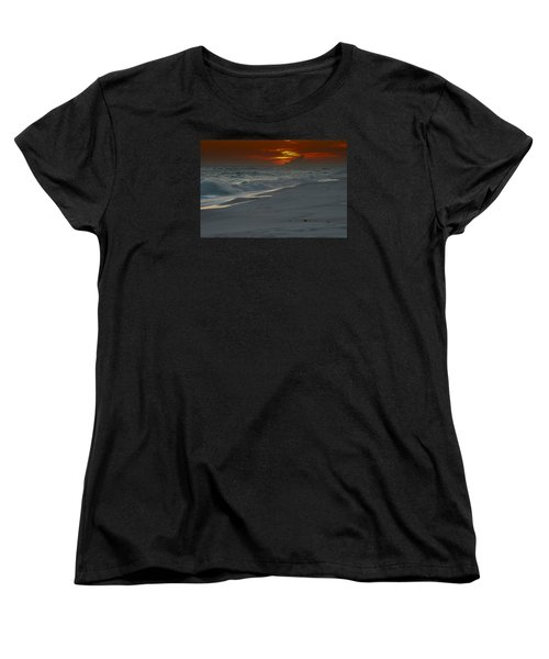 Women's T-Shirt (Standard Cut) featuring the photograph Fire In The Horizon by Renee Hardison