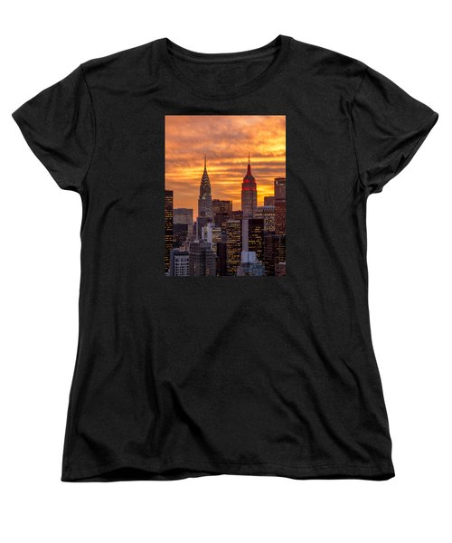 Women's T-Shirt (Standard Cut) featuring the photograph Fire In The Sky by Anthony Fields
