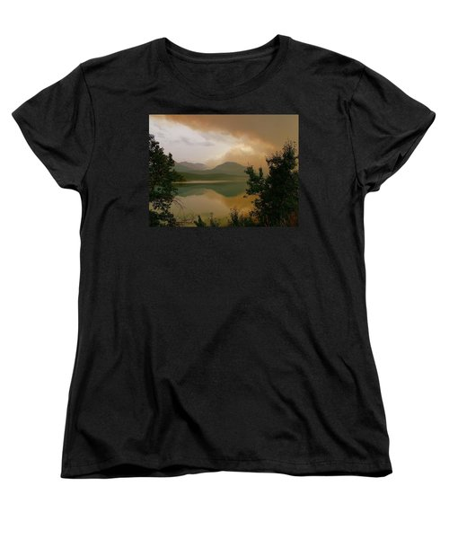 Fire Over St Mary Lake Women's T-Shirt (Standard Cut)