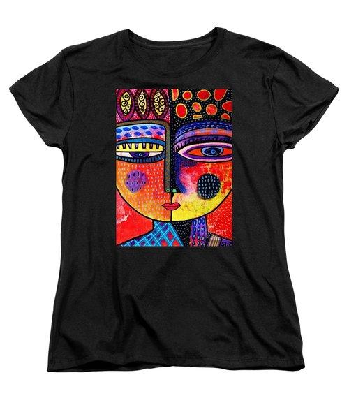 Fire Volcano Goddess Women's T-Shirt (Standard Cut) by Sandra Silberzweig