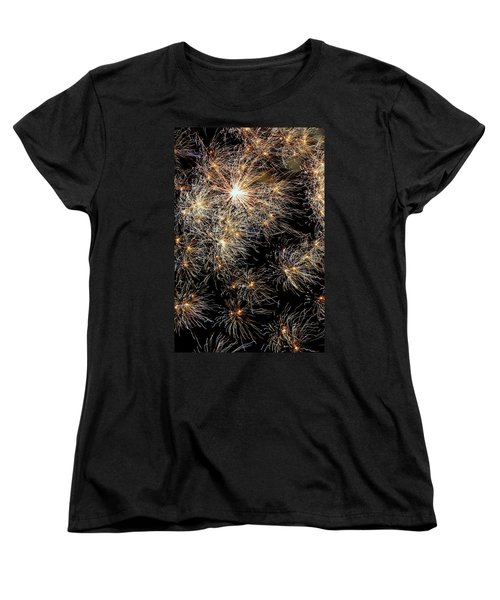 Women's T-Shirt (Standard Cut) featuring the photograph Fireworks by Suzanne Stout