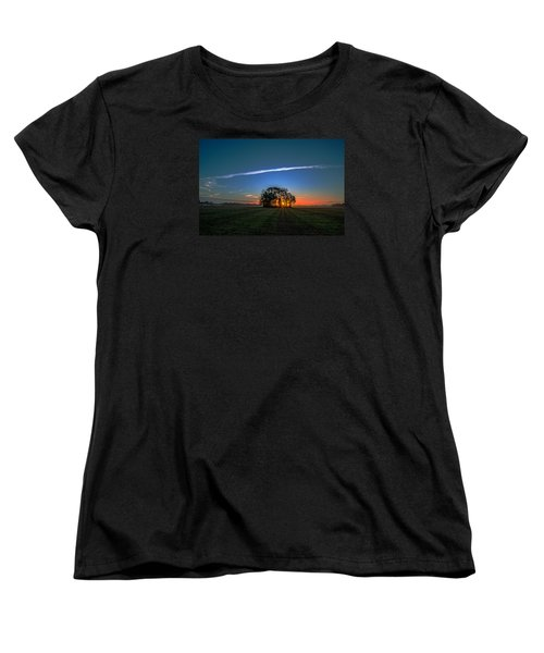 First Light At Center Grove Women's T-Shirt (Standard Cut) by John Harding