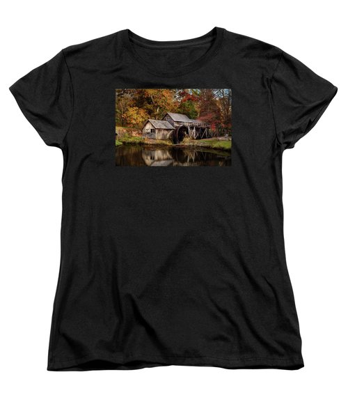 First Light At Mabry Mill Women's T-Shirt (Standard Cut) by Deborah Scannell