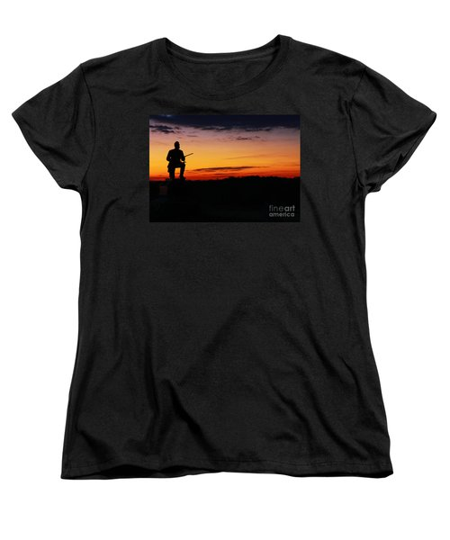First Pennsylvania Cavalry Sunrise Gettysburg Women's T-Shirt (Standard Cut) by Randy Steele