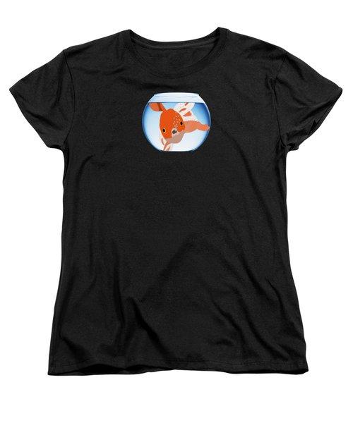 Fishbowl Women's T-Shirt (Standard Cut) by Priscilla Wolfe