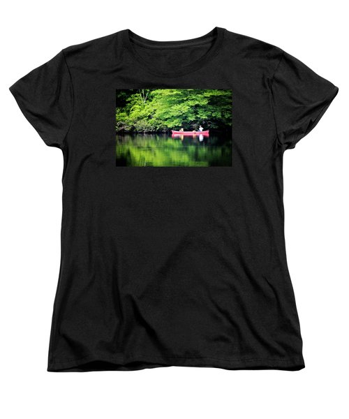 Fishing On Shady Women's T-Shirt (Standard Cut) by Lana Trussell