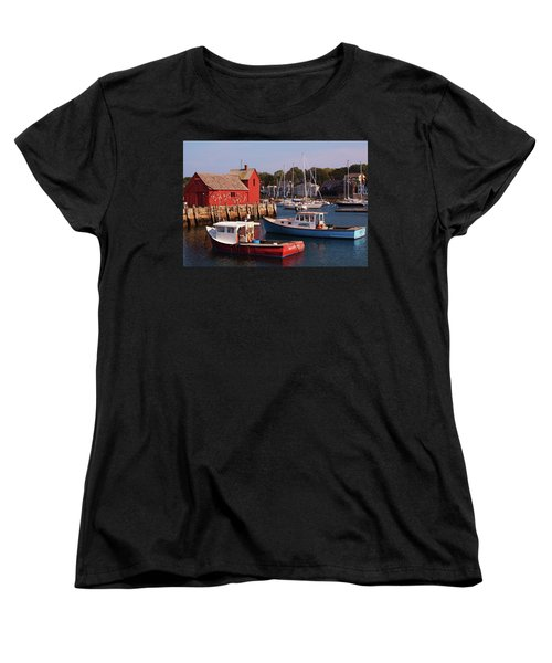 Fishing Shack Women's T-Shirt (Standard Cut) by John Scates