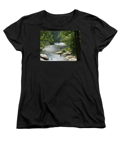 Fishing The Gunpowder Falls Women's T-Shirt (Standard Cut) by Donald C Morgan