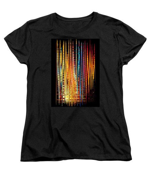 Flame Lines Women's T-Shirt (Standard Cut) by Francesa Miller