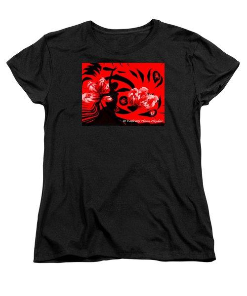 Flamenco-fairy Dance Women's T-Shirt (Standard Cut) by Dr Loifer Vladimir