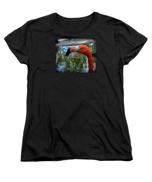 Flamingo Women's T-Shirt (Standard Cut) by Edgar Torres