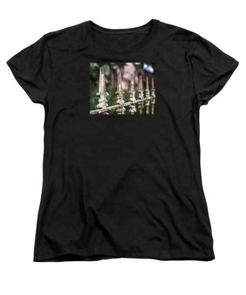 Women's T-Shirt (Standard Cut) featuring the photograph Fleur De Lis Finial by Andy Crawford