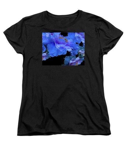 Floating Bouquet 10 Women's T-Shirt (Standard Cut) by Lynda Lehmann