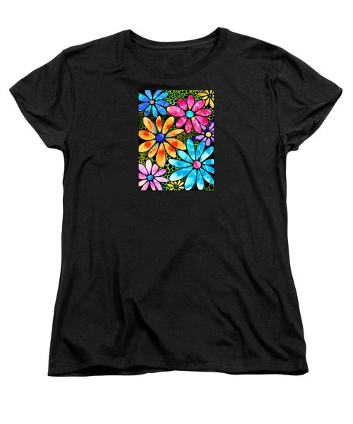 Floral Art - Big Flower Love - Sharon Cummings Women's T-Shirt (Standard Cut) by Sharon Cummings