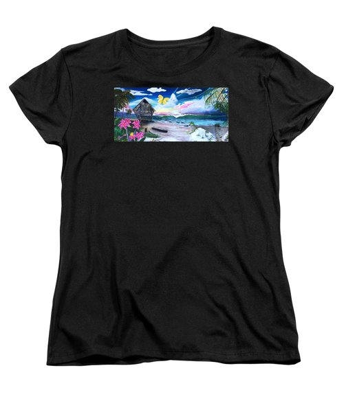 Women's T-Shirt (Standard Cut) featuring the painting Florida Room by Dawn Harrell