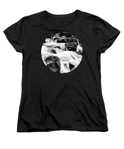 Flow, Black And White Women's T-Shirt (Standard Cut) by Adam Morsa