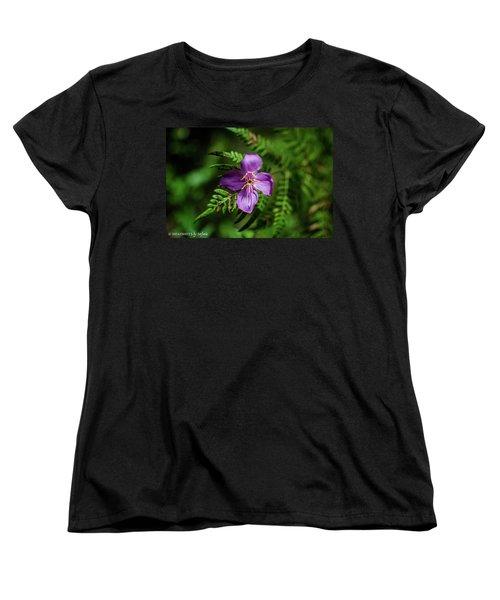 Flower On The Fern Women's T-Shirt (Standard Cut)