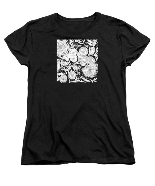 Women's T-Shirt (Standard Cut) featuring the painting Flowers 3 by Lou Belcher