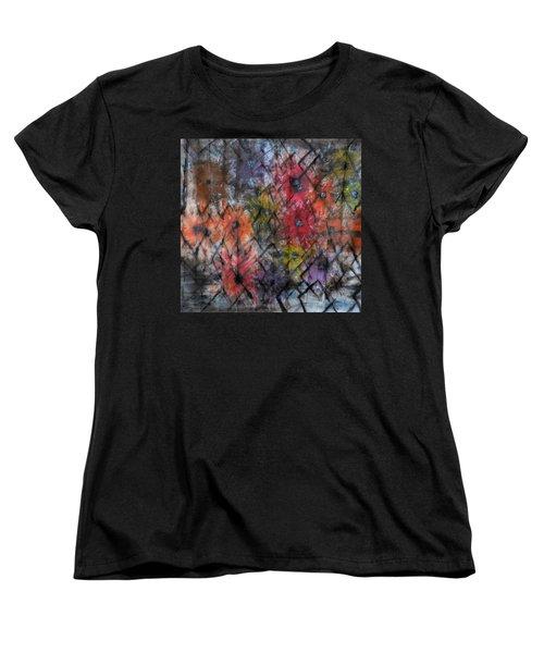 Flowers And Diamonds Women's T-Shirt (Standard Cut)