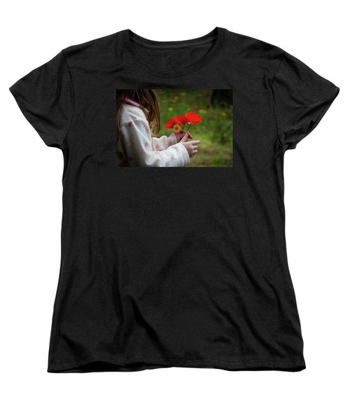 Women's T-Shirt (Standard Cut) featuring the photograph Flowers by Bruno Spagnolo