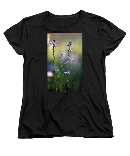 Flowers By The Pond Women's T-Shirt (Standard Cut) by Robert Meanor
