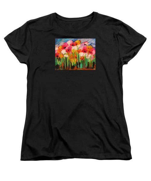 Women's T-Shirt (Standard Cut) featuring the painting Flowers by John Williams