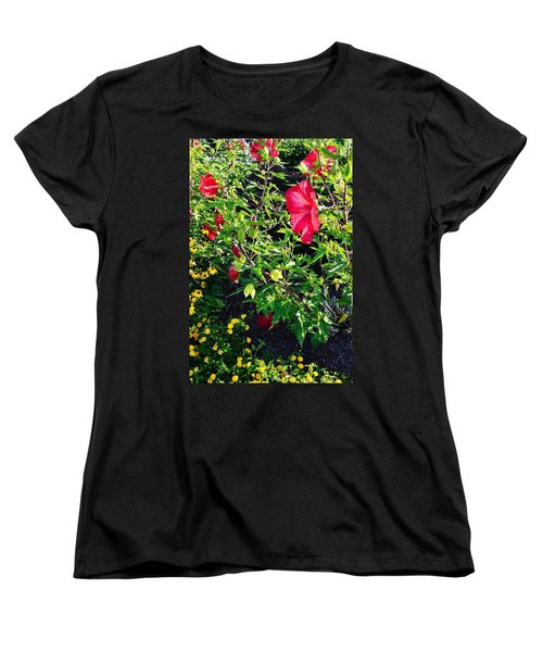 Flowers Of Bethany Beach - Hibiscus And Black-eyed Susams Women's T-Shirt (Standard Cut)