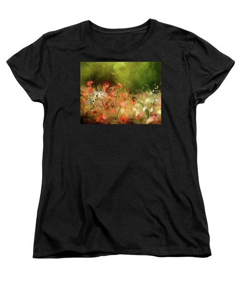Women's T-Shirt (Standard Cut) featuring the photograph Flowers Of Corfu by Lois Bryan