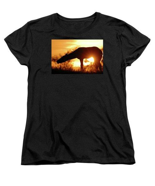 Foal Silhouette Women's T-Shirt (Standard Fit)