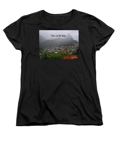 Women's T-Shirt (Standard Cut) featuring the photograph Fog by Gary Wonning
