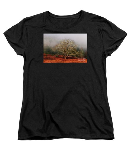 Fog Tree Women's T-Shirt (Standard Cut) by Geraldine DeBoer