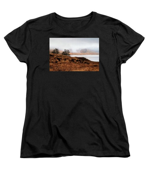 Foggy Day At Loch Arklet Women's T-Shirt (Standard Cut) by Jeremy Lavender Photography